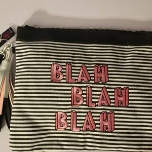 black & white striped Blah fashion wallet